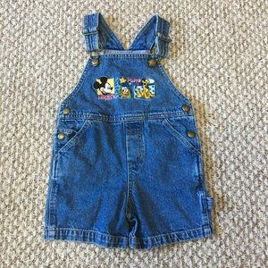 Disney Store Kids Overalls Mickey and Friends